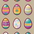 Easter eggs icon set - Stok Vektör