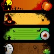 banners de Halloween — Vetorial Stock