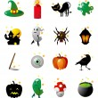 Fun icons for halloween holidays - ベクター素材ストック