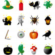 Fun icons for halloween holidays - Stok Vektör