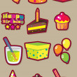 Birthday fun vector set - Vettoriali Stock