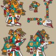Mayan vector set — Stock Vector