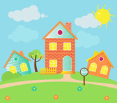 Sold houses — Vector de stock