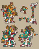 Conjunto de vectores maya — Vector de stock