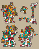 Set vettoriale maya — Vettoriale Stock