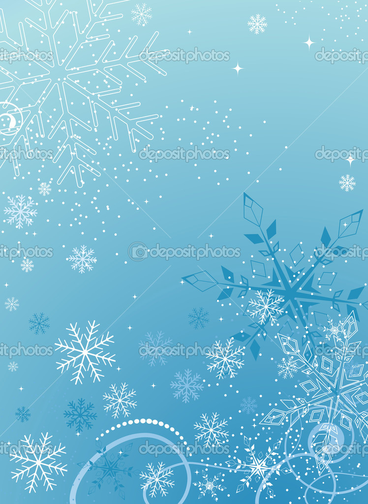 Blue christmas abstract background — Stock Vector #2964350