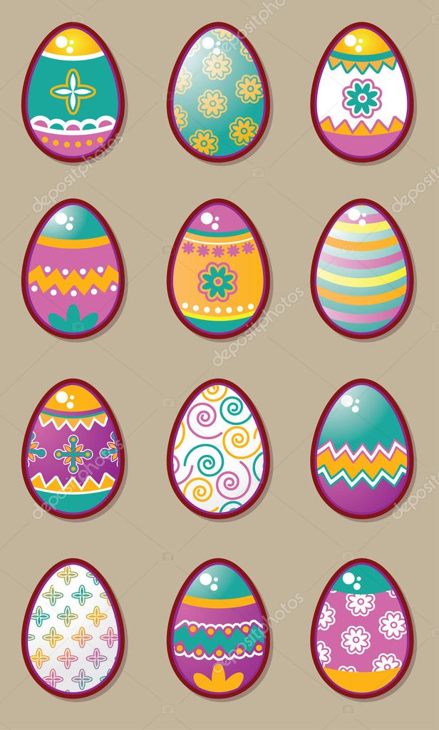 Easter eggs icon set — Stock Vector #2964501
