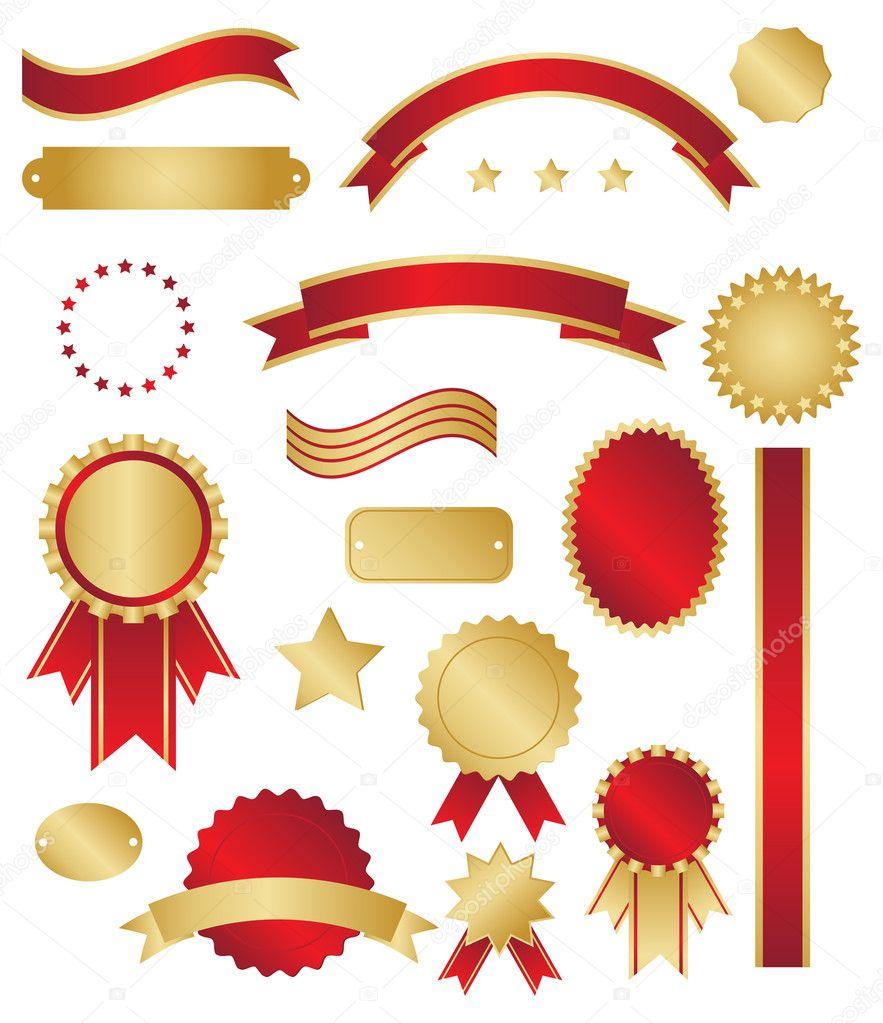 Red and Gold Swirls