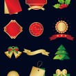 Christmas and New Year icon set — Stockvektor
