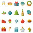 Classic Christmas and New Year icons — Imagen vectorial