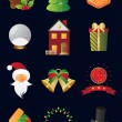 Christmas and New Year icon set - Image vectorielle