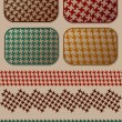 Houndstooth pattern set - Imagens vectoriais em stock