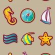 Sea travel icon set - Imagens vectoriais em stock