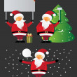 Santa Claus - Imagens vectoriais em stock