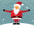 Funny Santa Claus — Stock Vector