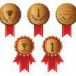 Award ribbons - Stockvectorbeeld