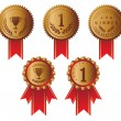 Award ribbons - Imagens vectoriais em stock