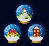 Cute glassballs — Stock Vector