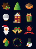 Christmas and New Year icon set — Stock Vector