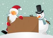 рождественский рекламный щит — Cтоковый вектор