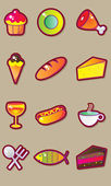 Tasty food vector set — Stockvektor