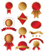 Classic gold and red awards — Stock Vector