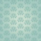 Blue seamless victorian flower pattern — Stock Vector