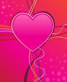 Sevgililer günü kalp — Stok Vektör