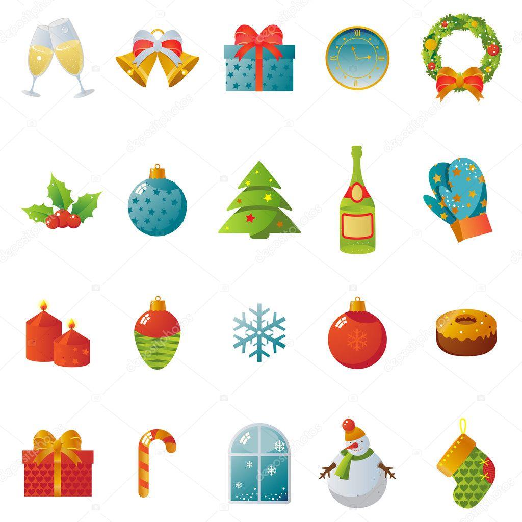 klassische weihnachten und neujahr symbole stock. Black Bedroom Furniture Sets. Home Design Ideas