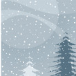 Winter christmas tree illustration - Imagen vectorial