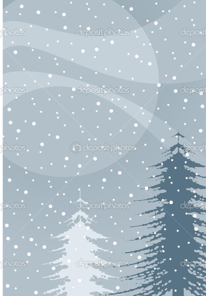 Winter illustration — Image vectorielle #2987418
