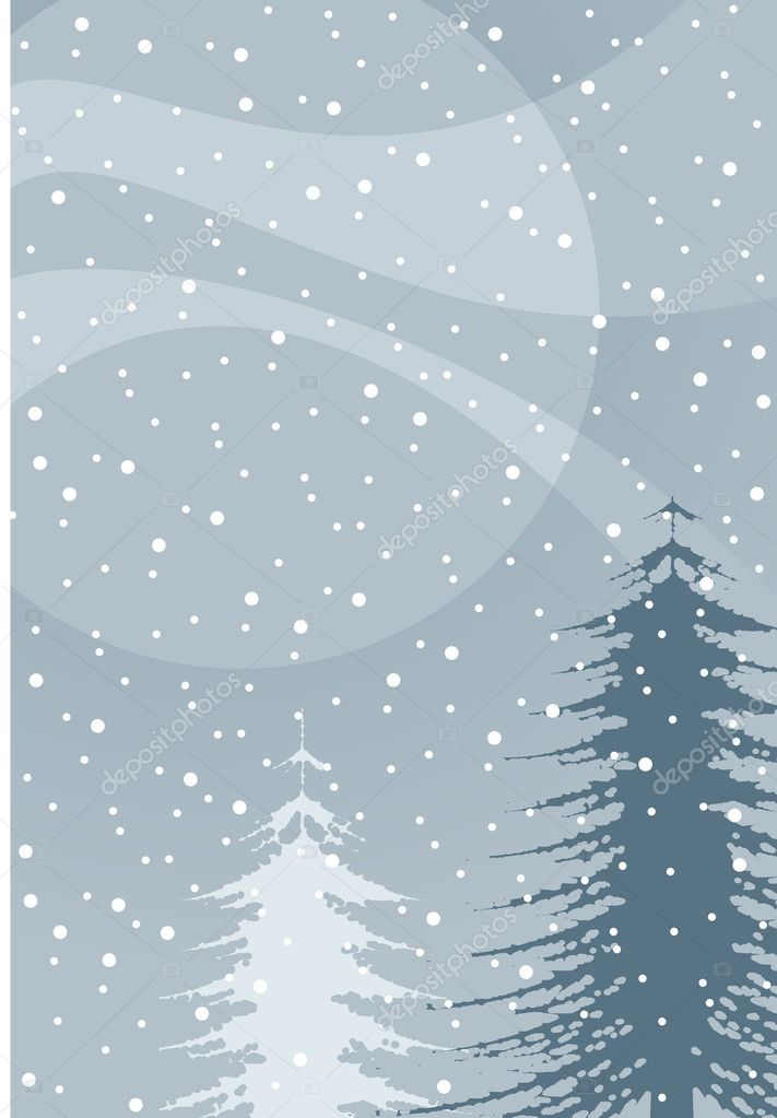 Winter illustration  Stockvectorbeeld #2987418