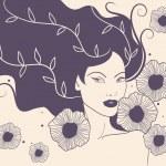 Decorative beauty illustration — Stock Vector