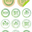 Set of different ECO rubber stamps - 图库矢量图片