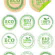Set of different ECO rubber stamps — Imagen vectorial