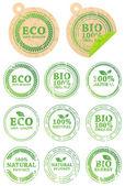Conjunto de sellos de goma diferente eco — Vector de stock