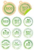 Set of different ECO rubber stamps — 图库矢量图片