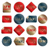 Vector sale set — Stock Vector
