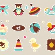 Stock vektor: Baby icons