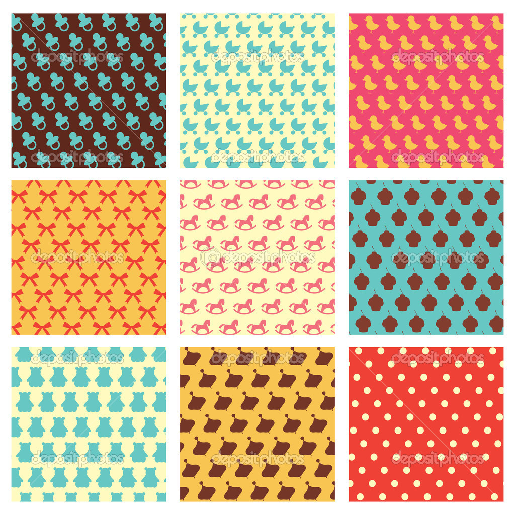 Children patterns — Stock Vector #3143134