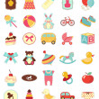 Royalty-Free Stock Векторное изображение: Baby icons set