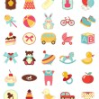 Stock vektor: Baby icons set