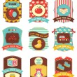 Royalty-Free Stock Imagem Vetorial: Baby labels with place for your text