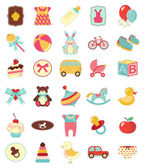 Baby icons set — Vector de stock