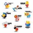Assorted concept titles for business — Stock Vector