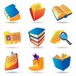 Icons for books and papers — Stock Vector