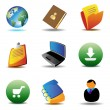 Royalty-Free Stock Vector Image: E-business icons