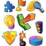 Colorful vectors: business metaphors — Stock Vector