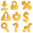 Royalty-Free Stock Vector Image: Commercial amber icons