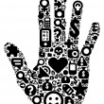 conceito de mão humana — Vetorial Stock